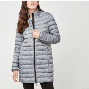 Roots Grey Long 700 Down Packable Jacket